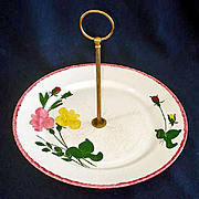 Blue Ridge Southern Potteries Bridesmaid Center Handled Tidbit Serving Tray