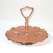Gregorian Copper Handled Tray For Salt Pepper Shakers