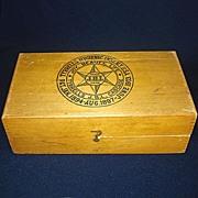1903 Tyrrells Hygienic Wood Box Quack Medicine Colon Cascade