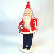 Japan 1950s Christmas Putz Composition Santa Claus Figure