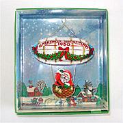 REDUCED Hallmark 1980 Santa's Flight Christmas Ornament Mint in Box