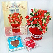 REDUCED Hearts and Flowers Honeycomb Paper Valentine Decorations