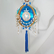 Fancy Draped Pearl Chain Pin Beaded Christmas Ornament 3 Available