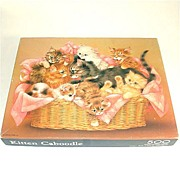 Kitten Caboodle Basket of Kittens Springbok Jigsaw Puzzle