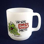 Glasbake Work Bugs Me Coffee Mug