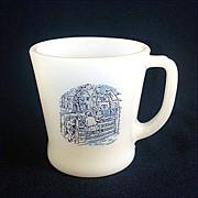 Fire King Currier & Ives Glass Coffee Mug