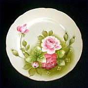 Lefton Heritage Green Rose Salad Plate