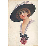"""Lady in Hat with Flowers""  (1919)"
