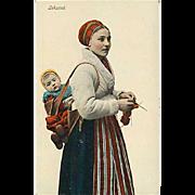 "SOLD ""Knitting Woman""  (1910')"