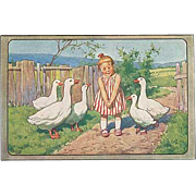 """Girl with Geese""  (1950')"