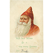 """""""Portrait of Father Christmas""""  (1910')"""