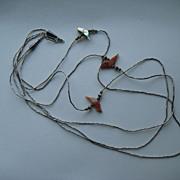 Vintage Navajo Native American Sterling Silver Fetish Necklace