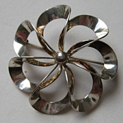 Vintage Denmark Niels Eric From Modernist Pin Sterling Silver Brooch