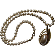 SALE Vintage Napier Mabe Pearl Long Strand BEAUTIFUL Necklace