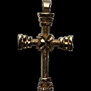 SALE Majestic Antique Victorian CROSS Religious Symbolism c. 1870's Vintage