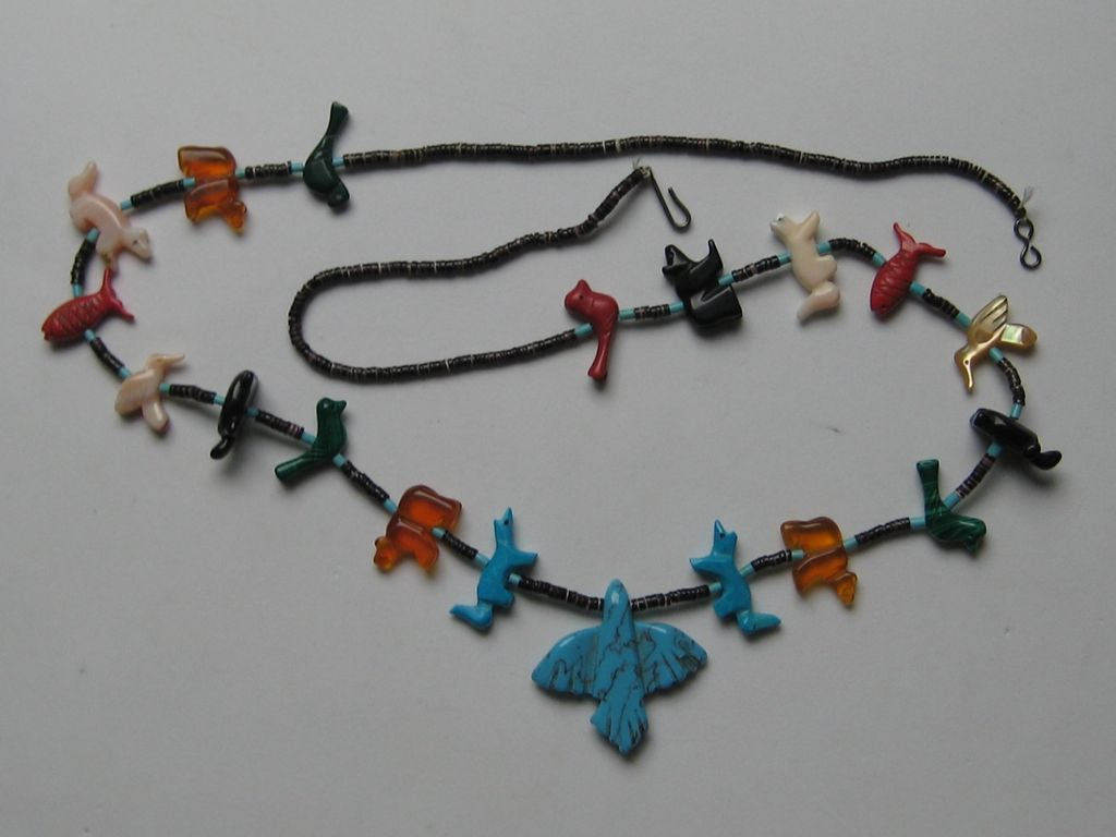 Zuni Fetish Necklace 100