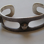 Vintage Mexico Taxco Bracelet LOS BALLESTEROS Sterling  Silver Arts and Craft Style Beautiful