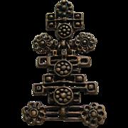 "Vintage David Andersen ""RARE UNI "" Norway Bronze Modern  Necklace Pendent"