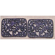 Pair of Openwork Floral Shoe Clips