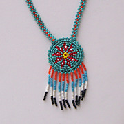 Native American Beaded Star Necklace 1965 Tourist Souvenir