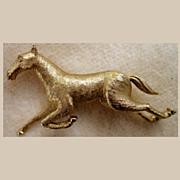 Figural Boucher Galloping Horse 8012P Pin Brooch