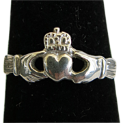 Sterling Silver Claddagh Ring Size 5 Mothers Day Gift