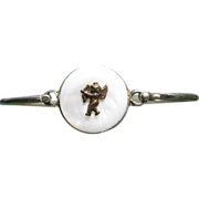 Cupid MOP Bangle Bracelet Mother of Pearl Small Size Alpaca Mexico