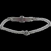 Vintage Sterling Sigma Phi Epsilon Fraternity Sweetheart Bracelet 6.75 inches