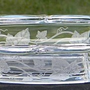 Heisey Plantation Ivy 2-Part Celery and Olive Dish ca. 1950