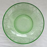 Depression Glass Cameo Ballerina Large Berry Bowl Hocking Glass Green