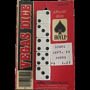 Hoyle Vintage NOS Dice Original Packaging Set 5 Die Unopened