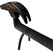 Primitive Dachshund Folk Art Dog Rasp Hammer Tool
