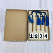 Vintage Bridge Game Original Box Pencil Table Numbers Fathers Day Gift