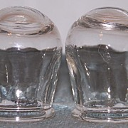 2 Victorian Glass Medical Phlebotomy Bloodletting Cups