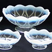 7 pc. Northwood Scroll with Acanthus Opalescent Berry Set