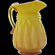 Kanawha Art Glass Melon Pitcher Cased Glass