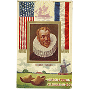Hudson Fulton Celebration 1909 NY Postcard Antique Embossed