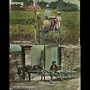 2 Bermuda Postcards Native Black Children Early Vintage