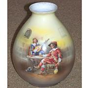 SALE Royal Bayreuth Ovoid Vase Musketeers in Pub
