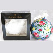 Christopher Radko Floral Suite Christmas Ornament Ball Original Box