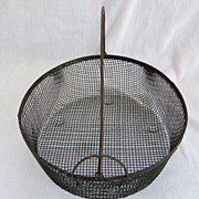 SALE Primitive Country Locking Bail Wire Basket Farm
