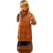 Anri Hand Carved Wood Figurine Vintage Friendly Dentist