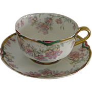 Antique Haviland Limoges Cup & Saucer