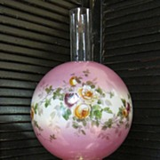 Phoenix Glass Company Handpainted Gone with the Wind Converted Oil Lamp