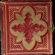 Miniature Victorian Photo Album of Tintypes
