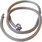 Sterling Silver Vintage 4mm Round Wheat Chain (18 inch), Unisex