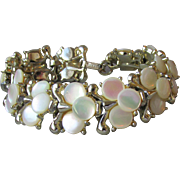 Superb 1950's Vintage Mother-of-Pearl Disc Bracelet, Signed MARHILL