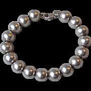 Tiffany & Co. Vintage Sterling Silver Bead Bracelet