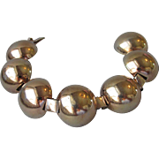 Vintage 1943 Hector Aguilar for CORO Dome Bracelet Sterling Vermeil Taxco Mexico