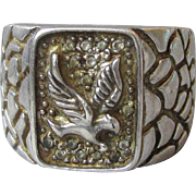 Men's Vintage Sterling Silver Eagle Ring, Size 11